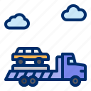 car, service, tow, truck, vehicle icon