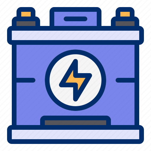 battery, car, electric, energy, power icon