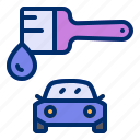 brush, car, paint, service, workshop icon