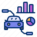 analytics, car, maintenance, service, workshop icon