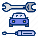 car, repair, screwdriver, tools, wrench icon