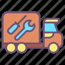 car, service, truck