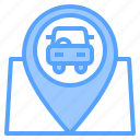auto, car, location, mechanic, service, work, workshop icon