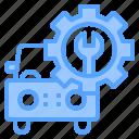 auto, car, maintenance, mechanic, service, work, workshop icon