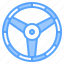 auto, car, mechanic, service, steering, wheel, workshop icon