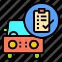 engineer, maintenance, mechanic, repair, vehicle, work, workshop icon