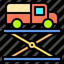 engineer, mechanic, repair, suspension, vehicle, work, workshop icon
