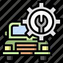cogwheel, gear, maintenance, settings, transport, transportation, vehicle icon