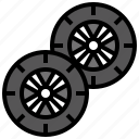 car, drive, driver, tire, transport, vehicle, wheel icon