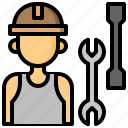 avatar, job, mechanic, occupation, user, worker icon