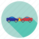 automobile, broken, car accident, crash, damage, danger, fall icon