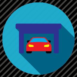 building, car, garage, property, repair, service, vehicle icon
