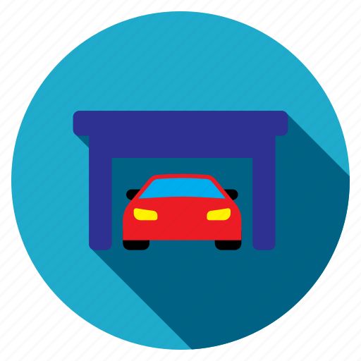 building, car, garage, property, repair, service, vehicle icon