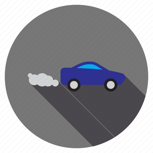 exhaust, pollution, smoke, vapour, vehicle, warning, working car icon