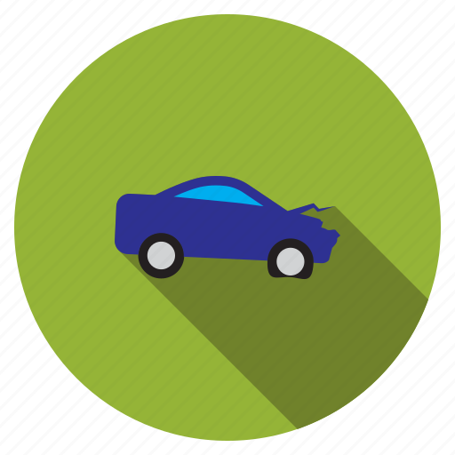 accident, automobile, damaged car, problem, transport, transportation, vehicle icon