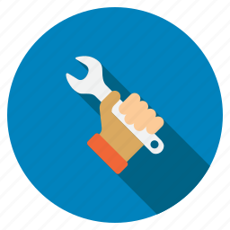 handle, repair, service, spanner, tool, work, wrench icon