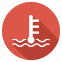 control, danger, hot, measurement, oil temperature, thermometer, warning icon