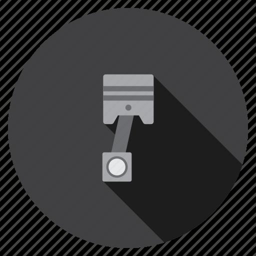 detail, engine piston, machine, mechanic, motor, part, repair icon