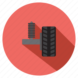 auto, car suspension, details, parts, transport, vehicle, wheel icon