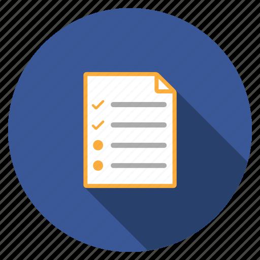 check list, checklist, edit task, exam form, plan, tasks, test icon