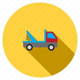 car, delivery, evacuation, tow truck, transport, transportation, vehicle icon