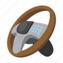 automobile, car, cartoon, equipment, steering, vehicle, wheel icon