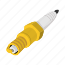 automotive, car, cartoon, electric, ignition, plug, spark icon