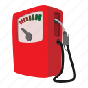 cartoon, diesel, fuel, gas, petrol, pump, station icon