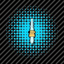 automotive, car, comics, ignition, service, spare, spark-plug icon