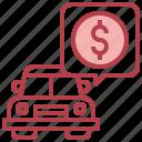 dollar, payment, automobile, coin, car