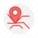location, map, marker, navigation, place icon icon