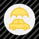 car, insurance, protection, umbrella icon icon