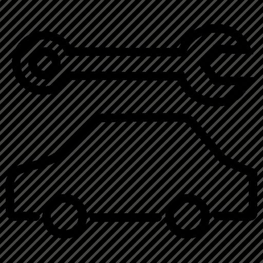 car repair, car service, car tools, carrepair, mechanic shop, repair, service icon