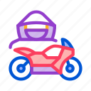 driver, motorbike, motorcycle, theft, transport, transportation icon