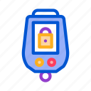 alarm, car, key, padlock, secure, theft, vehicle icon