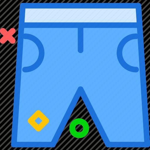 bermudas, pants, short, summer icon