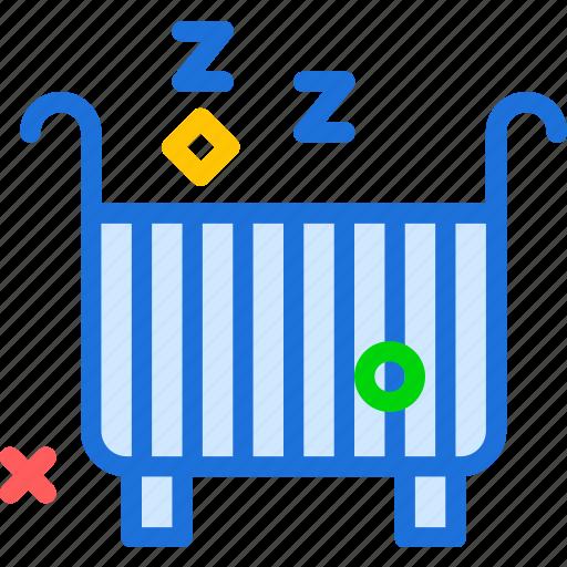 baby, bed, kid, sleep, snap icon