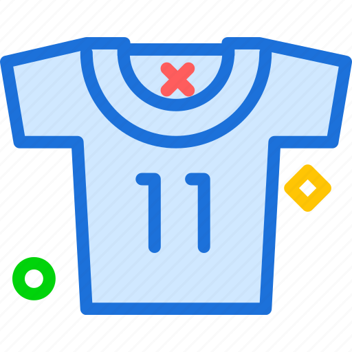number, shirt, soccer icon
