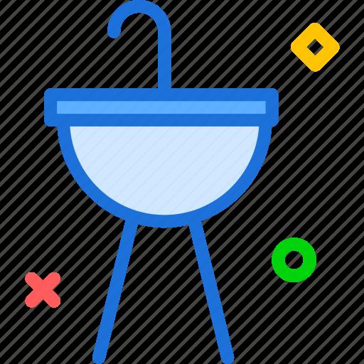bath, hands, sink, washing icon