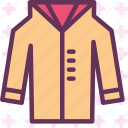 jacket, leather, long, winter, wintercoat icon