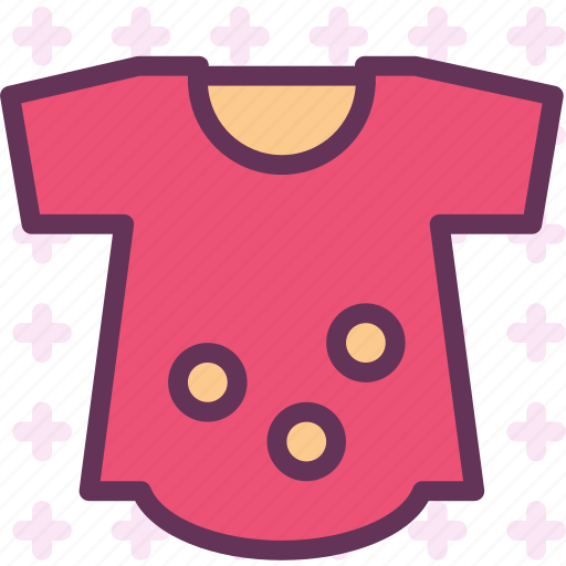 baby, cloth, girly, small icon