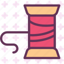 brodery, clothes, thread icon