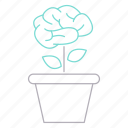 awareness, brain, career, growth, plant, thinking icon