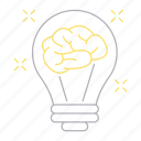 brain, bulb, career, innovative, thinking icon