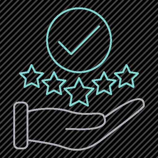 career, feedback, positive icon