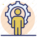 human resource, independent development, personal development, self efficiency, staff resource icon