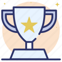 achievement, award, reward, star trophy, trophy, victory icon