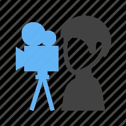camera, man, movie, shooting icon