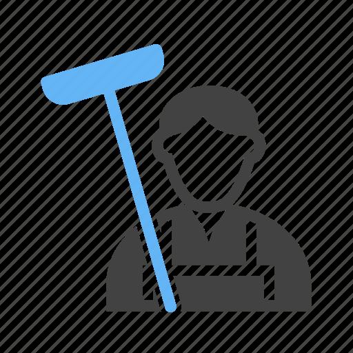 cleaner, man, mob, servent icon