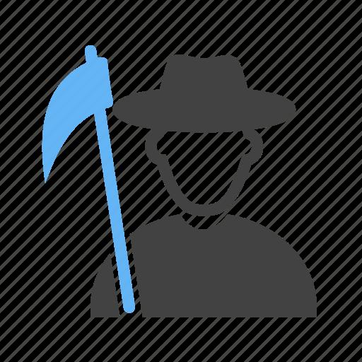 boy, farmer, hat, man, village, with icon